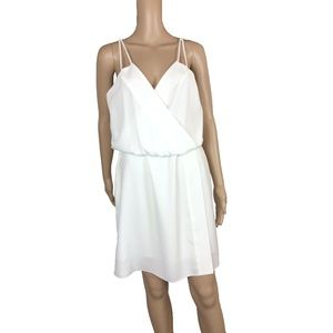 NWT Crossover strappy white dress